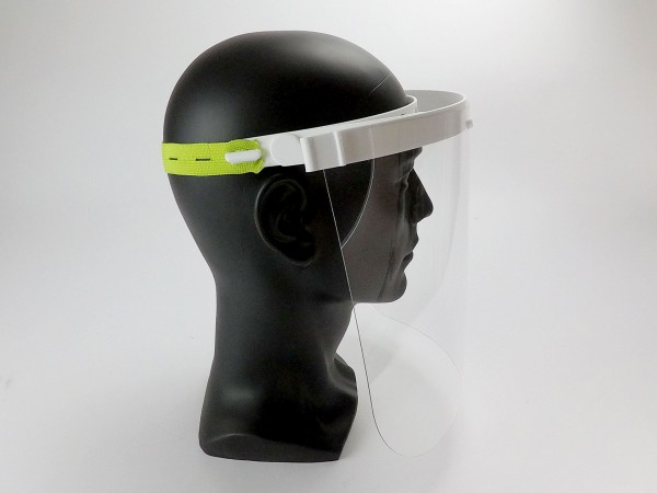 Gesichtsschutzmaske mit klappbarem Visier